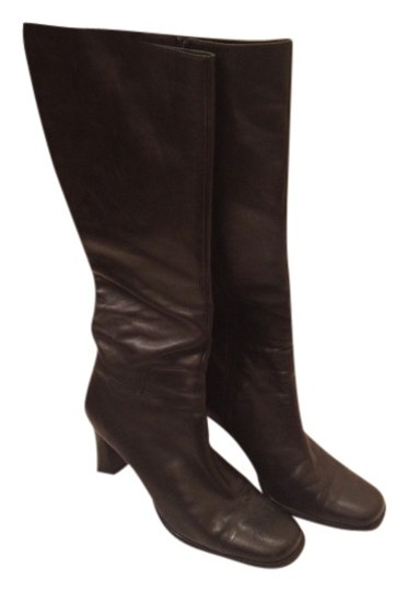 Macy's Leather black Boots