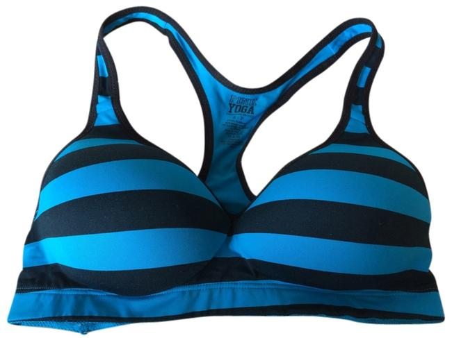 Preload https://item2.tradesy.com/images/pink-blueblack-activewear-sports-bra-size-4-s-27-4129786-0-0.jpg?width=400&height=650