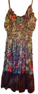 American Rag short dress Grapeade Combo Floral Ruffle Sheer Chic on Tradesy