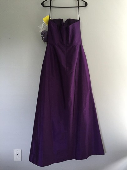 Alfred Sung Peau De Majestic Polyester Strapless Full Length D499 Formal Bridesmaid/Mob Dress Size 8 (M)
