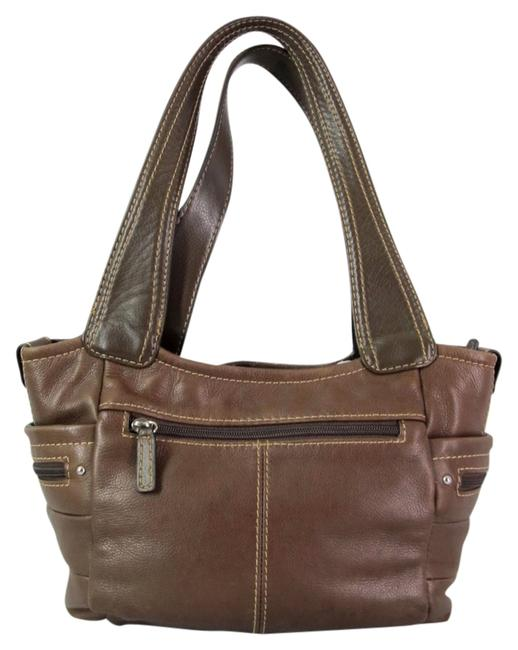 Item - Pebbled Lots Of Pockets Bay Brown Leather Satchel