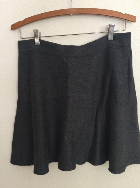 Nordstrom Plain Warm Soft Mini Skirt Gray