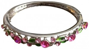 Other Swarovski Crystal Rose Bracelet Cuff Bangle