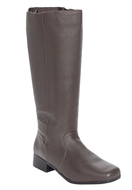 Item - Chocolate Brown Katie Genuine Leather Wide Calf Boots/Booties Size US 10.5