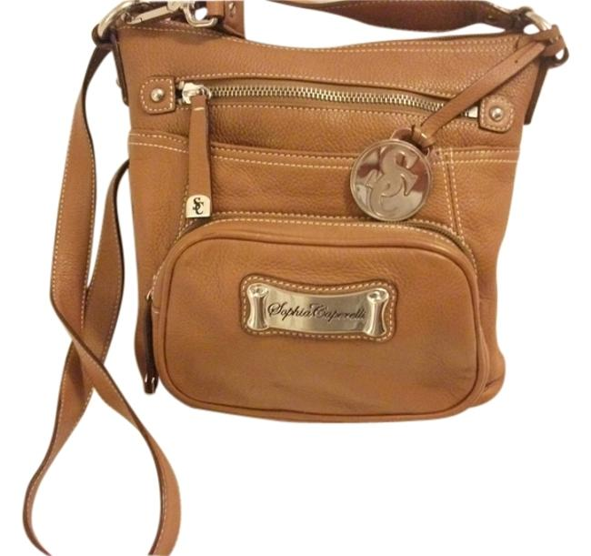 Item - / Cocoa / Leopard Print Lining Genuine Leather / Polyester Cross Body Bag
