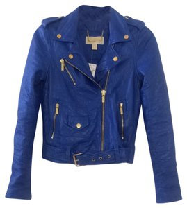 Michael by Michael Kors Royal Blue Leather Jacket