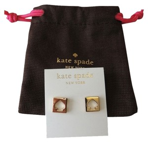 Kate Spade Kate spade Gold spade cut out hole punch earrings