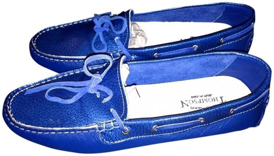 Thompson (Made in Italy) Tods Loafers Coach Blue Comfortable Barney's Chanel Louis Vuitton Luxury Designer Driving Driving Moccasins Givenchy Electric Blue Flats