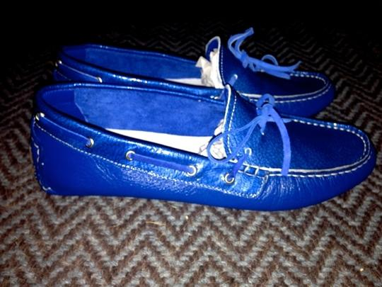 Thompson (Made in Italy) Tods Loafers Coach Comfortable Barney's Chanel Louis Vuitton Luxury Designer Driving Driving Moccasins Givenchy Saint Electric Blue Flats