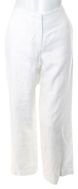 Escada Designer Flare Pants White