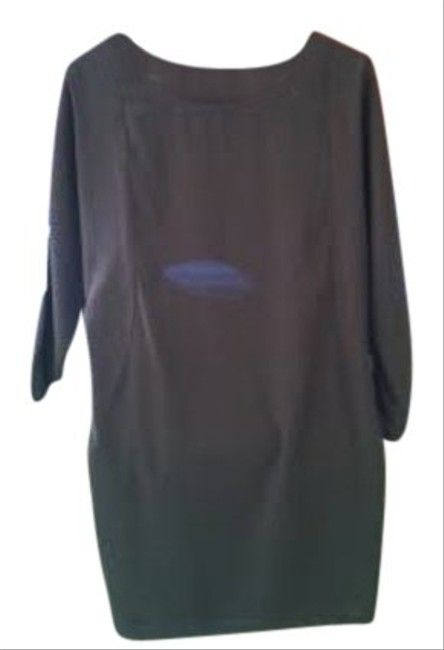 Gap short dress Greige Boatneck Dolman Sleeves Knee Length Polyester Lined Back Cut Out on Tradesy