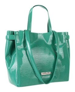 BCBGeneration Purse Hand Teal Polyurethane Aqua Tote in Caribbean Sea