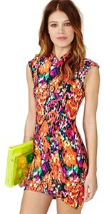 Nasty Gal short dress Multi-colored, pink Floral Multi-colored on Tradesy