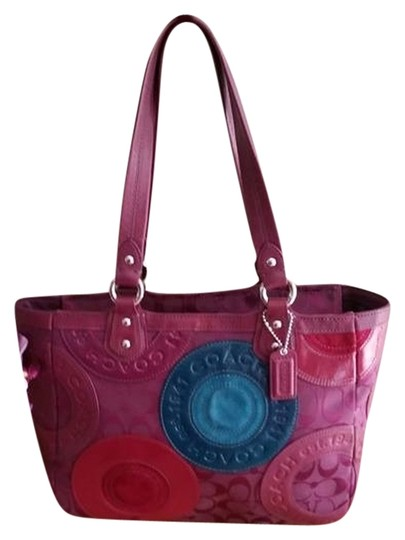 Preload https://item2.tradesy.com/images/coach-excellent-used-condition-retired-berrymc-pieced-patchwork-east-west-f15466-multicolor-tote-4131706-0-0.jpg?width=440&height=440