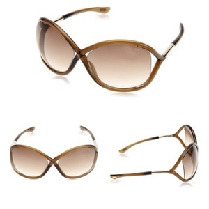 Tom Ford NEW!! Tom Ford Brown Whitney Sunglasses/Gradient Brown Lens