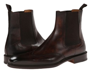 Magnanni Magnanni Mens Brown Leather Wingtip Dress Boots
