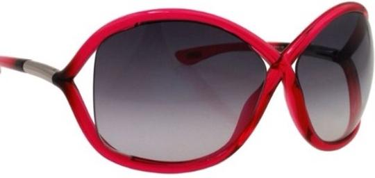 Tom Ford NEW!! Tom Ford Transparent Red Frame/Gradient Smoke Lens