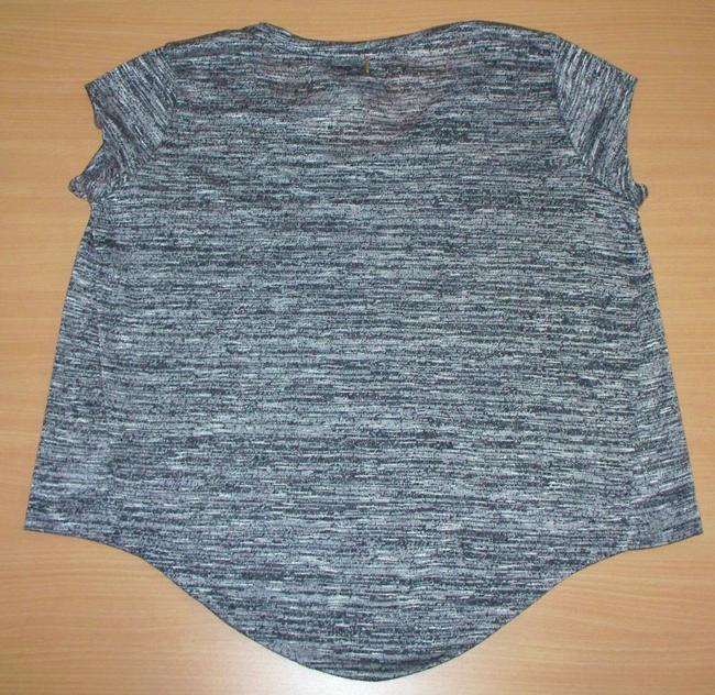 T-Bags Los Angeles Studded Knit T Shirt Gray