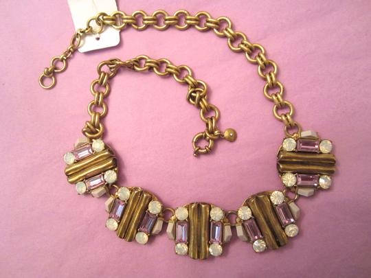 J.Crew J. Crew Modernist Gold Opaline Rhinestone Statement Chunky Necklace