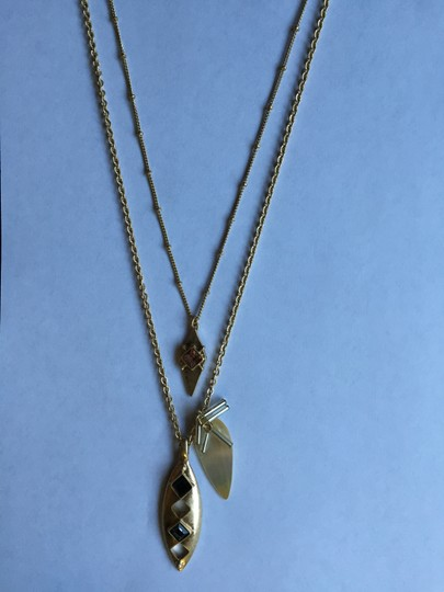 Dylan Gray NWT!! Mother of Pearl Pendant Double-Strand Necklace, 32
