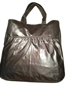 Donna Karan Dkny Expandable Travel Silver Grey Gray Tote in Silver Metallic