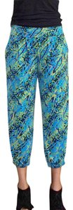 T-Bags Los Angeles Harem Cropped Pants Capris Multi-Colored