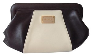 St. John Black/Cream Clutch