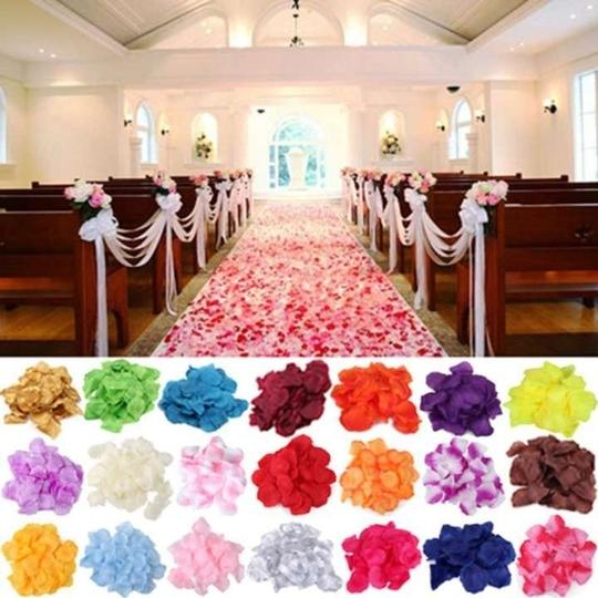 Pink Wedding Decoration Ideas: 5000x Silk Rose Petal Red White Gold Sky Blue Purple Pink