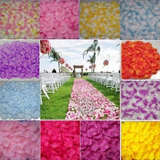 22 Colors To Pick 5000x Silk Rose Petal Red White Gold Sky Blue Purple Yellow Green Flower Girl Basket