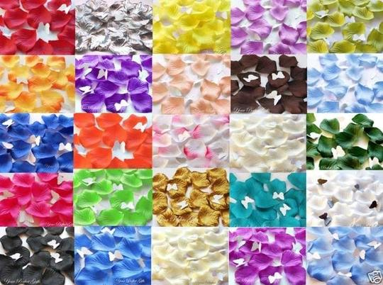 22 Colors To Pick 5000x Silk Rose Petal Red White Gold Sky Blue Purple Yellow Green Flower Girl Baskets