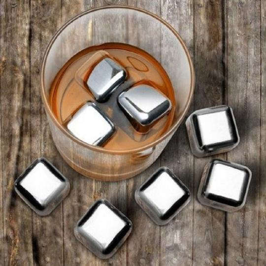Chrome 80 Pieces Stainless Steel Whiskey Whisky Stone Ice Cube Favor Gift