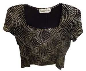 Ronni Nicole #party #new Years #shiny Top Black/Gold/Silver