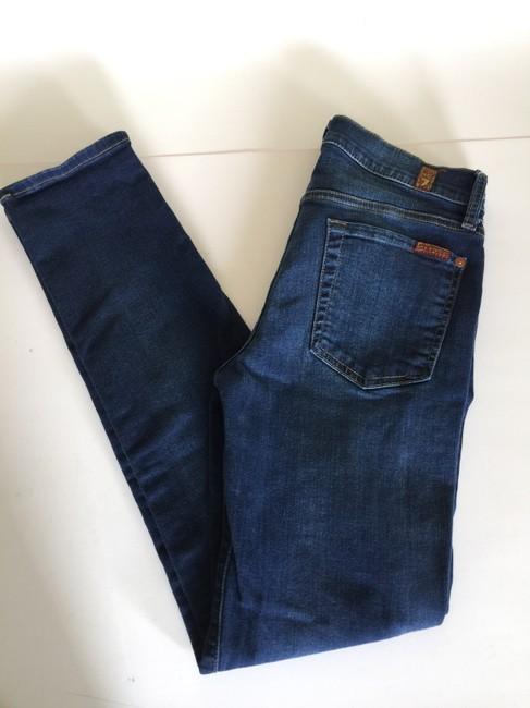 7 For All Mankind Slim Cigarette Skinny Jeans-Light Wash