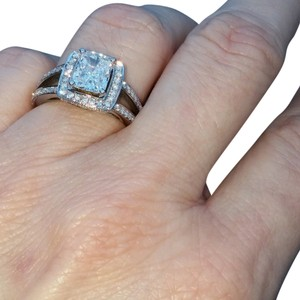setting by Samuels Jewelers Radiant Diamond Halo Engagement ring 2.56 carats size 6.5