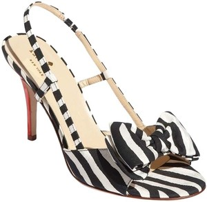 Kate Spade Black, White, Red Sandals