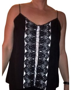 New York & Company Top Black and white