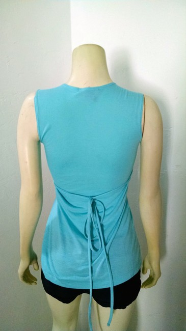 Hiatus Sleeveless Stretchy P1484 Top Teal, silver