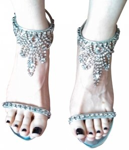 Coloriffics Jeweled Sandals Vintage Silver Formal
