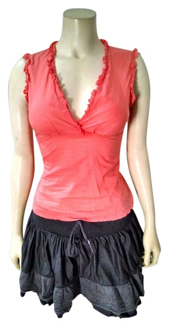 BCBGMAXAZRIA Sleeveless Size X-small P1485 Top Salmon