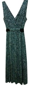 Multiple - Cream, Gray, Teal and Black Maxi Dress by Nine West Comfortable Polyester Flowy