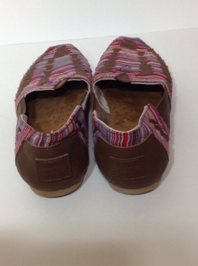 TOMS Comfy Stylish Canvas Leather Weave Multi Flats