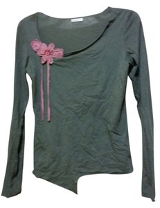 Lux Embellished Casual Comfortable Cotton Top Gray