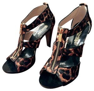 Michael Kors Sandal Leather Leopard Sandals