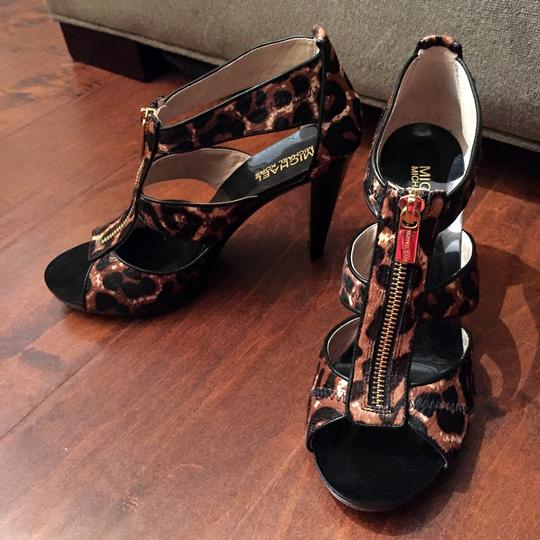 Michael Kors Leather Leopard Sandals