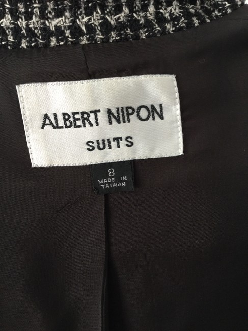 Alpert Nipon Albert Nipon Virgin Wool & Silk with Black Suede Trim Jacket