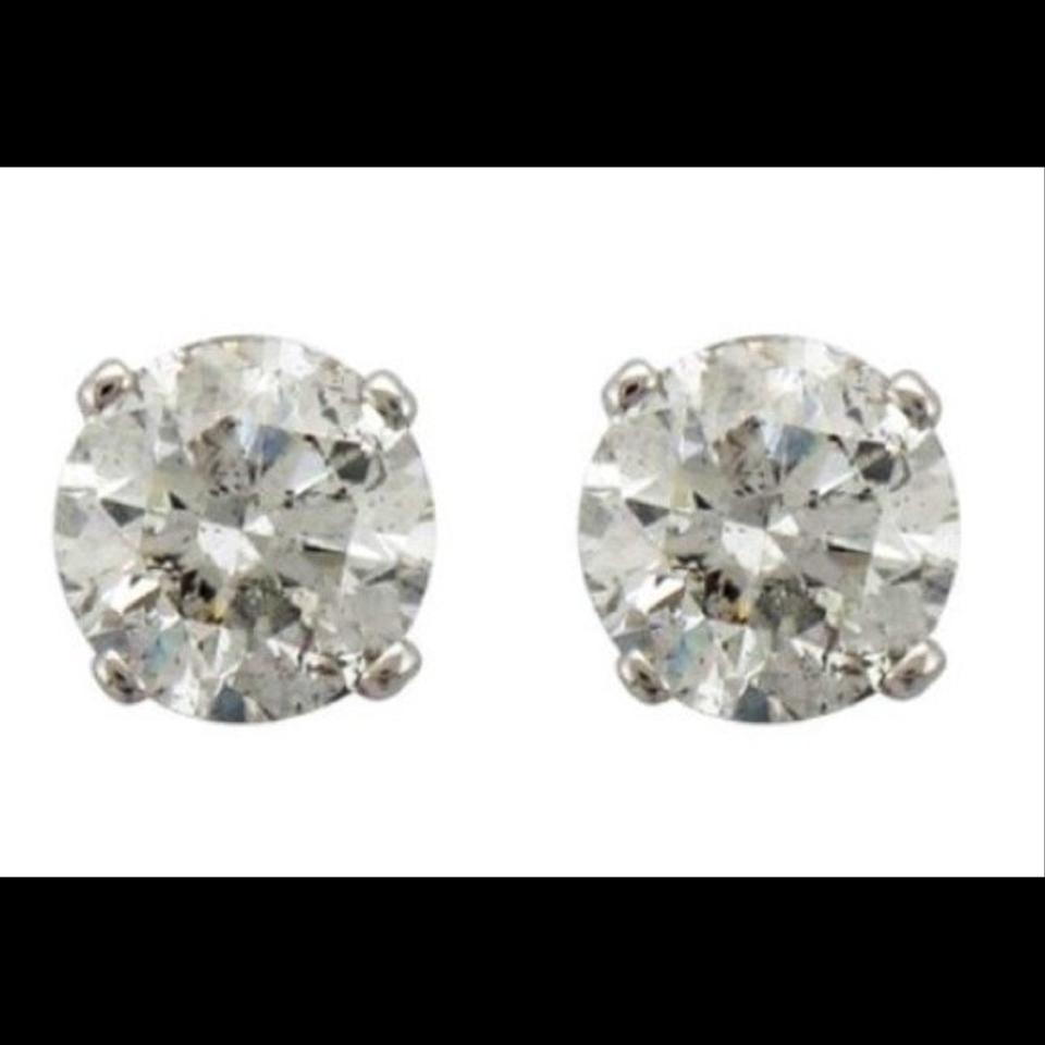1 carat stud earrings sale white earrings 69 jewelry tradesy 8475