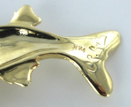 Other 14KT Yellow Gold Pendant snook FISH WITH A RUBY EYE