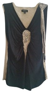 bebe Top Black & Tan
