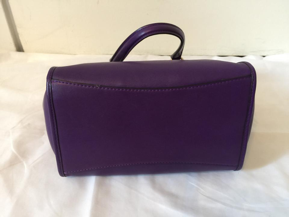 9ee9c64c8184 Coach Mini Crosby Carryall Satchel Leather Gold Hardware Crossbody Tote in Violet  Purple. 12345678