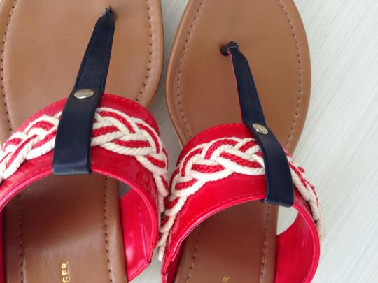 Tommy Hilfiger Red, White & Blue Wedges